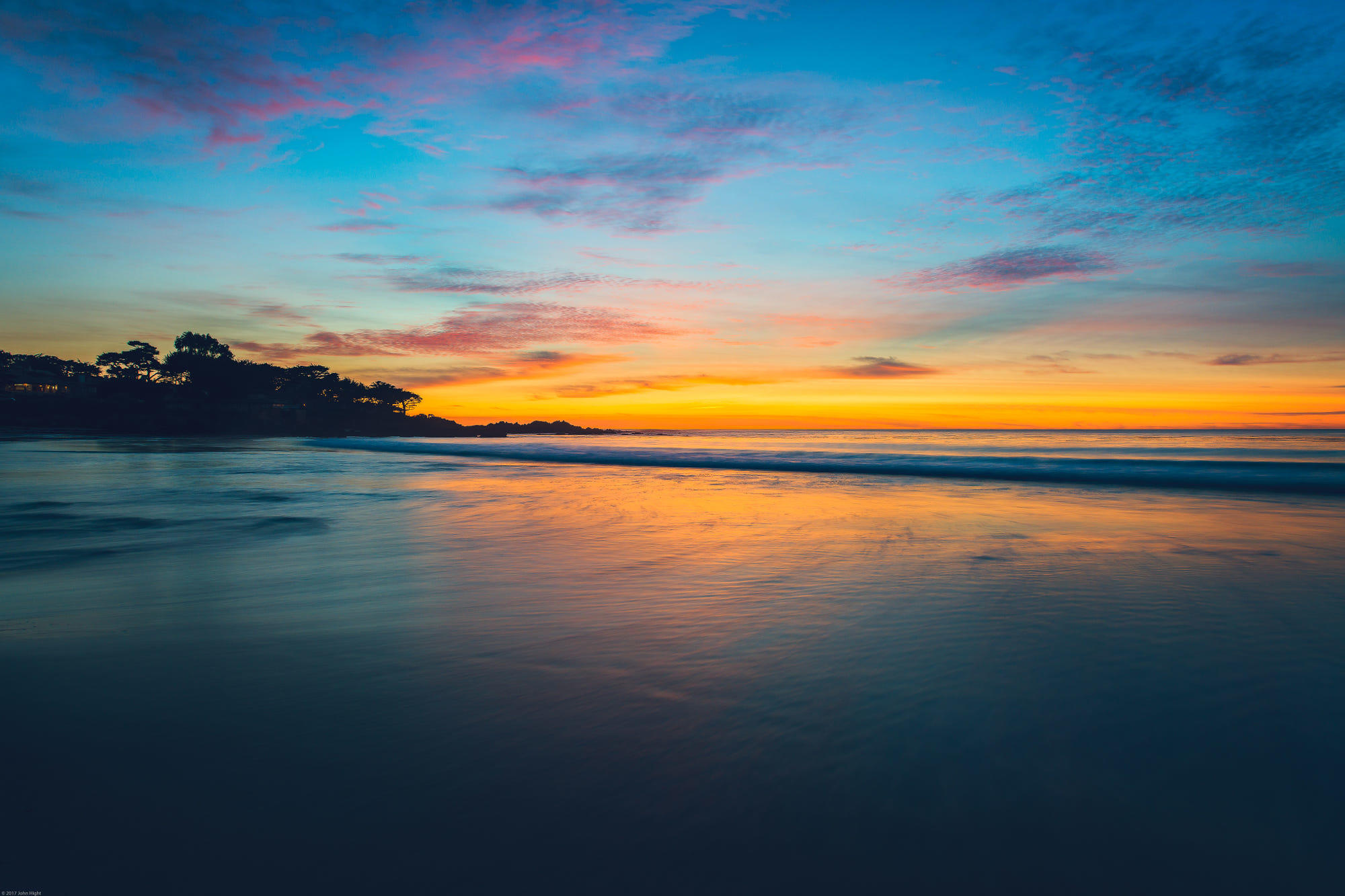 Blue Hour at Carmel, CA Beach